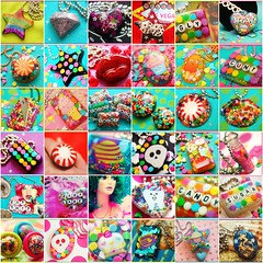36 of my latest creations  (stOOpidgErL) Tags: fish glitter star diy necklace rainbow fdsflickrtoys kiss colorful candy heart sweet handmade mosaic vivid craft jewelry lips sugar plastic sprinkles resin pendant stoopidgerl