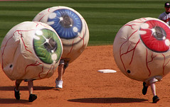 Are Your Eyeballs Running? (Sister72) Tags: blue red green field race baseball nj running lakewood 2008 oceancounty eyeballs blueclaws firstenergypark