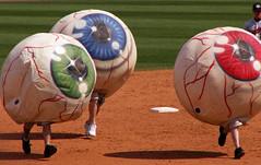 Are Your Eyeballs Running? (Sister72) Tags: blue red green field race baseball nj running lakewood 2008 oceancounty eyeballs blueclaws firstenergypark
