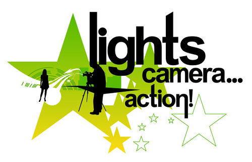 Lights camera Action. 3 magic words very common in the industry