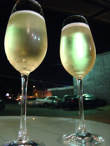 A glass of Villa Sandi Prosecco at Wink