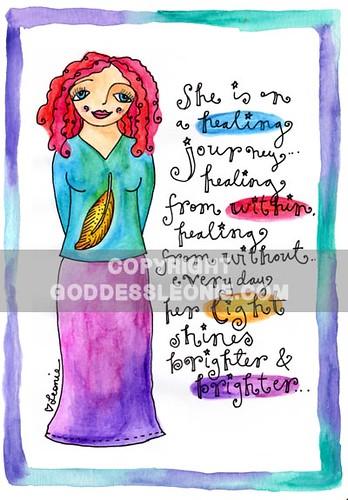 Healing Journey Goddess: Art print