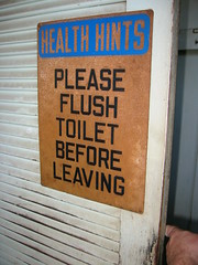 Health Hints - Please Flush Toilet Before Leaving.JPG (rcribbett) Tags: 2005 building bach rcribbett auricon bachauricon