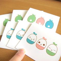 kawaii capsule rabbit greeting card (ahyingmui) Tags: cute rabbit bunny illustration print capsule card kawaii etsy greeting swapbot
