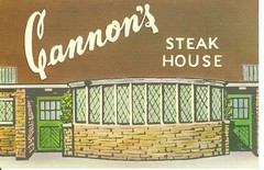 Cannon's Steak House, Florida Market, Washington, DC, postcard
