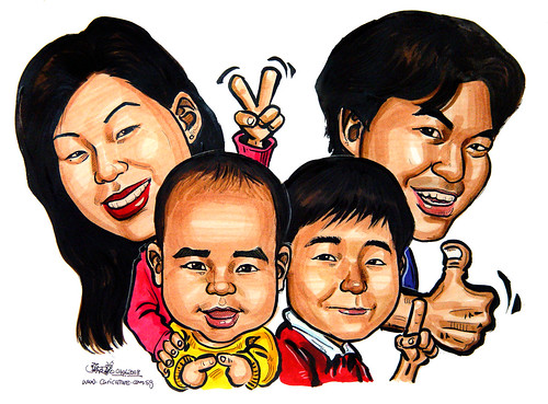 Family caricatures 040608