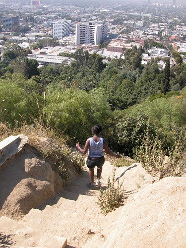 Descending the trail in Runyon Canyon Park