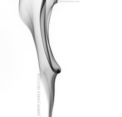 Calla Whisp (skinr) Tags: blackandwhite beautiful studio whimsy air smooth floating dreamy organic smoky dreamlike inverted incense blownglass whimsical gentle glassy sculpted fineartphotography fumes whispy smoketrail flowerlike etherreal wwwjskinnerphotocom jasonjamesskinner callawhisp