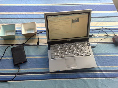 Filling external harddrive with some MP3