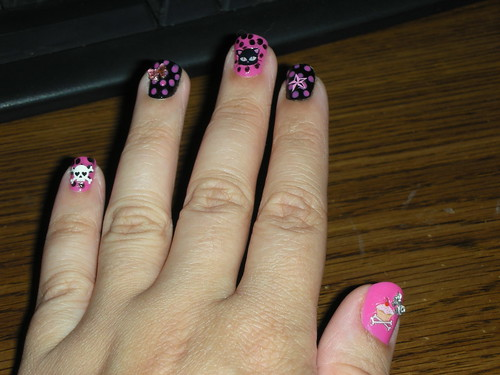 Skull Star and Cat Nail Art Design Gallery
