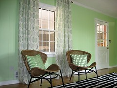 I do love these drapes. (elevator_lady) Tags: new white black green ikea leaf chair mod floor decoration bamboo fabric installation curtains rug flooring wicker decor drapes