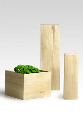 jamali blonde wood vases