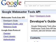 Google Webmaster Tools API by honeytech