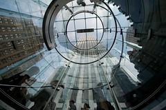Apple Spiral (kngfu) Tags: nyc newyork glass spiral centralpark manhattan 5thavenue applestore reflexion