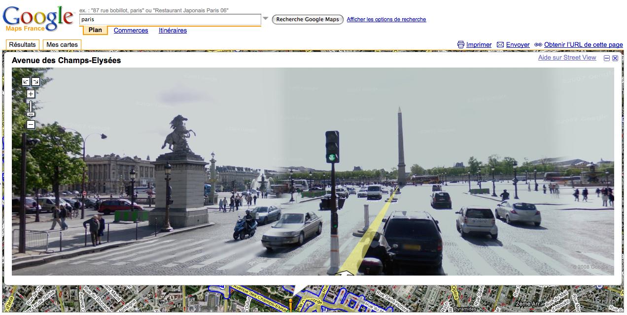 Google Street View place de la Concorde