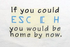 'If you could ESC [ H, you'd be home by now.' t-shirt