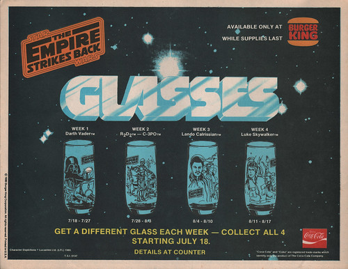 BK Star Wars glasses