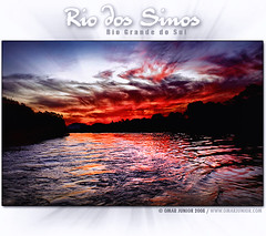 Rio dos Sinos (Omar Junior) Tags: sunset pordosol red sol water rio azul clouds digital geotagged agua do barco vermelho nuvens manual rs reflexo so riograndedosul por pescador sinos blending instituto rgs martim leopoldo nohdr pordosul riodossinos geo:lat=29758854 geo:lon=51147366
