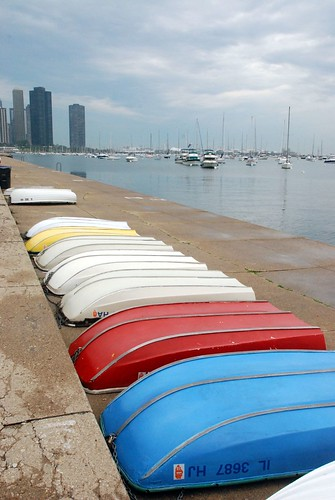 Rowboats waiting a-shore