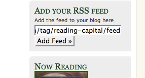 Image of Add RSS field on Reading Capital Site