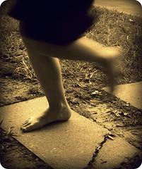 Run Lola Run (eky_lane) Tags: feet blurry legs running sidewalk swishy