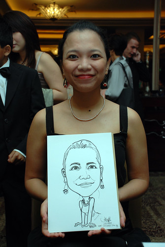 caricature live sketching for wedding dinner 120708  - 6