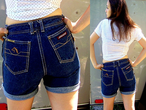 JORDACHE High Waist Denim Shorts por LoLaVintage.