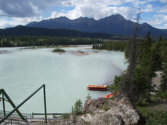 Rafting docks on the Athabasca River, Jasper (joadc) Tags: river athabasca