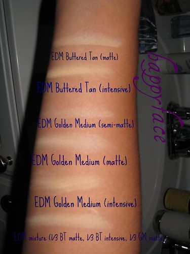 EDM swatches