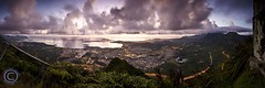 Kaneohe Twilight Pano ( KristoforG) Tags: panorama hawaii oahu hike kaneohe 2008 findme stairwaytoheaven reallyrightstuff haikustairs kristofor gitzo2530 rrsbh40