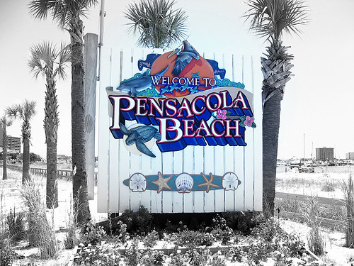 Pensacola Beach Welcome Sign