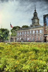Independance Hall Texture (TomOlson) Tags: green philadelphia flag gritty grainy hdr textured independancehall