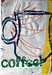 leethal recycled fabric coffee patch!