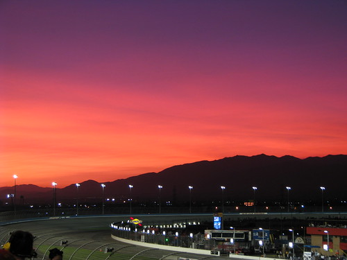 Sunset at Autoclub Speedway...my favorite picture of the weekend