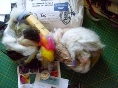 knitty dirty girl package (rosie.ok) Tags: wool handmade craft yarn spinning spun