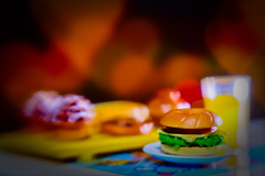 Burger time (kktp_) Tags: cheese lensbaby thailand toys miniature nikon heart burger bakery orangejuice muffin rement sb800 lensbaby20 d80 strobist nikoncls creativeaperture ehbd deliciousbokeh cafebokeh beautifulkloveyourtoyshots