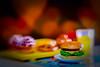 Burger time (kktp_) Tags: cheese lensbaby thailand toys miniature nikon heart burger bakery orangejuice muffin rement sb800 lensbaby20 d80 strobist nikoncls creativeaperture ehbd deliciousbokeh cafebokeh beautifulkloveyourtoyshots
