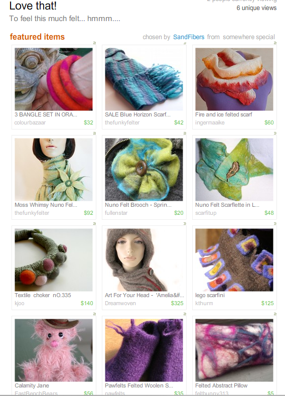 Love That!  Treasury from SandFibers!