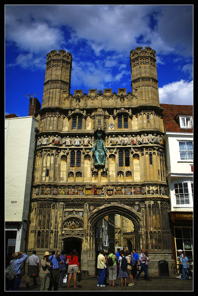 Entrance gate to Canterbury Cathedral