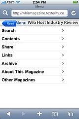 WHIR Magazine Search October 2008 Issue for iPhone