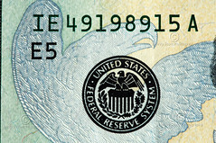 Federal Reserve Logo (thejeffreywscott) Tags: money currency 20bill papermoney twentydollarbill uscurrency usmoney usbill federalreservelogo macrosot usfederalreservenote
