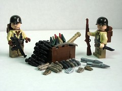 Crate full of BrickArms ordnance