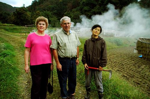 Mom, Dad, Tomoe in Field