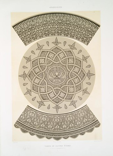 vase en cuivre étamé - détails d'ornementation