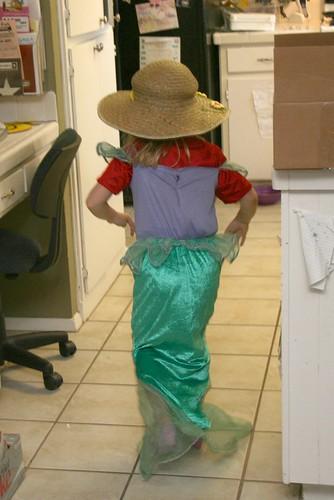 Mermaid running away