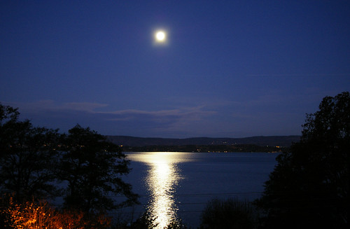 Full Moon over Oslo Fjord