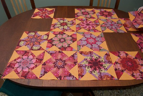 "Kaleidoscope Quilt ""Empress Bouquet"""