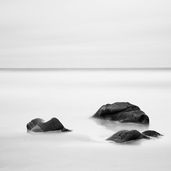 Escape Myself (Jono Renton) Tags: longexposure white black water clouds bay scotland nikon rocks long exposure islay ww renton jono waterscape d80 saligo ndx1000