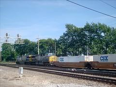 Eddie's Rail Fan Page: Eastbound CSX intermodal transfer train