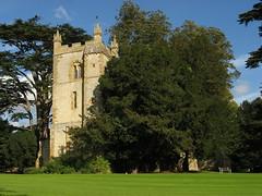 Old church at Ettington, Warwickshire (Pete Roberts (rhayader_wanderer)) Tags: autumn trees england sunlight building church hall explore cedar statelyhome warwickshire conifers parkland ettington utatafeature gwuk guessedbychurchcrawler